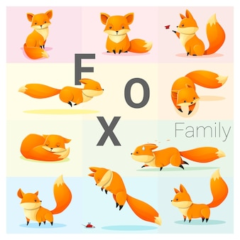 Ensemble de famille fox