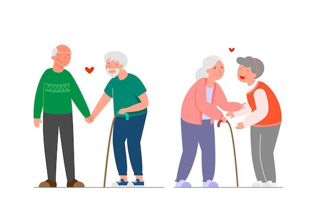 Ensemble de familles. collection différents couples.