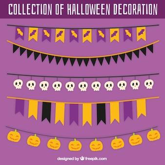 Ensemble de fanions de halloween