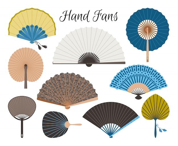Ensemble de fans asiatiques