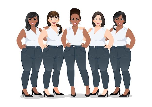 Ensemble de femme en chemise sans manches blanche et jeans