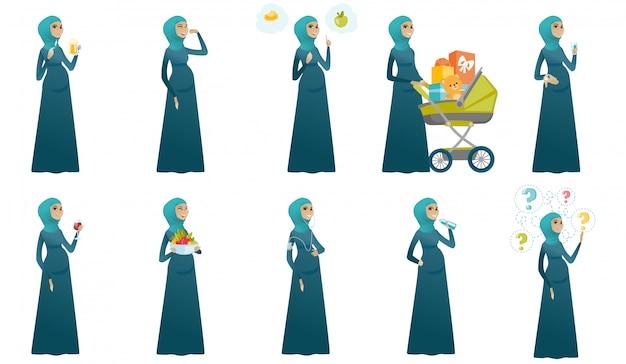 Ensemble de femme enceinte musulmane