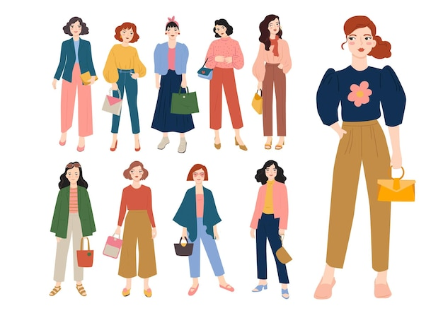 Ensemble de femmes à la mode