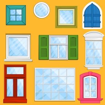 Ensemble de fenêtres vecteur