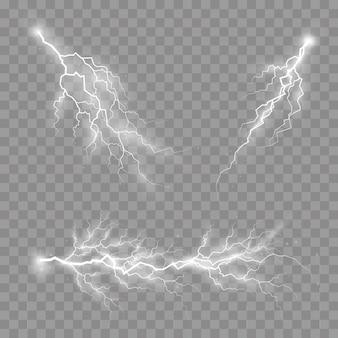 Ensemble de fermetures à glissière, orage et éclair