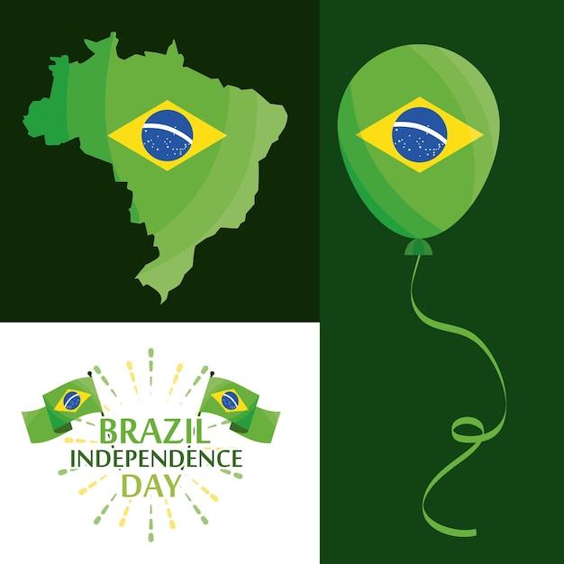Ensemble de la fête de l'indépendance du brésil