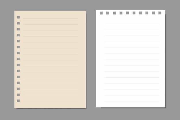 Ensemble de feuilles de papier, page de papier réaliste