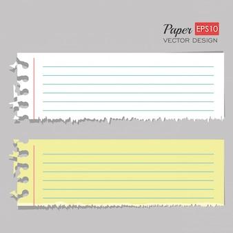 Ensemble de feuilles de papier