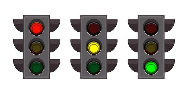 Ensemble de feux de signalisation de rue