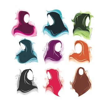 Ensemble fille sans visage hijab