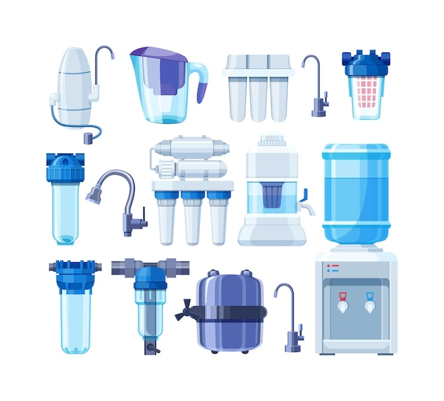 Ensemble de filtres à eau pour la purification système de traitement de filtration potable distributeur de nettoyage pur