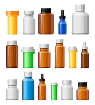 Ensemble de flacons de médicaments