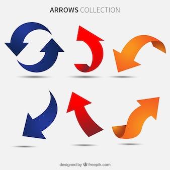 Ensemble de flèches colorées