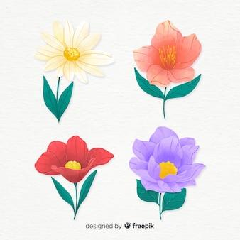 Ensemble de fleurs aquarelle