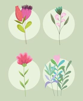 Ensemble de fleurs de printemps