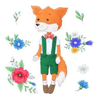 Ensemble de fleurs de renard.