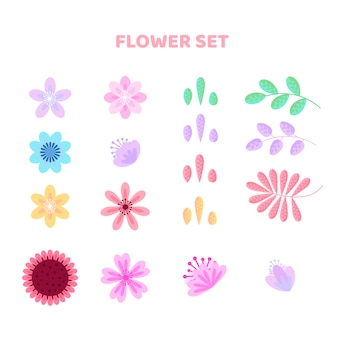 Ensemble de fleurs