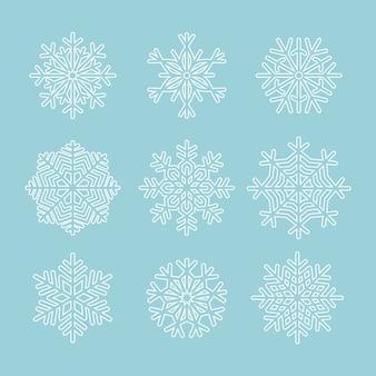 Ensemble de flocon de neige