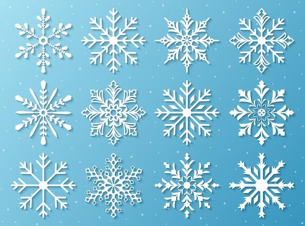 Ensemble de flocons de neige
