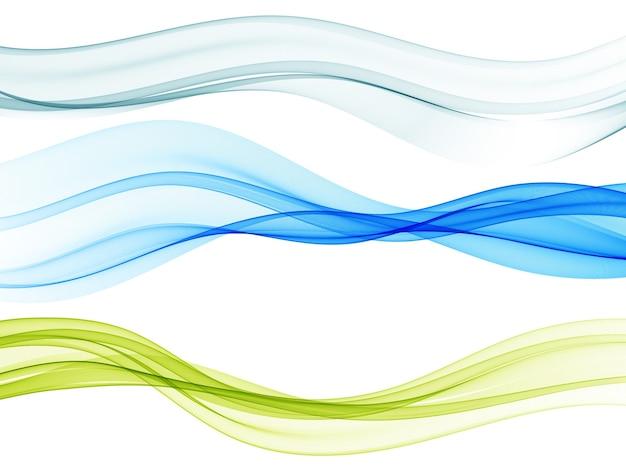 Ensemble de flux de vague de couleur ondulée abstrait