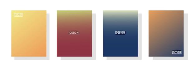 Ensemble De Fond Abstrait Avec Une Belle Couleur De Dégradé, Fond Coloré Pour Affiche Flyer Bannière Toile De Fond.vertical Banner.cool Illustration Vectorielle De Fond Fluide Vecteur Premium