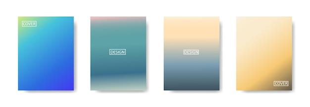 Ensemble de fond abstrait avec une belle couleur de dégradé, fond coloré pour affiche flyer bannière toile de fond.vertical banner.cool illustration vectorielle de fond fluide