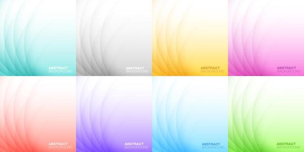 Ensemble de fond clair coloré abstrait fond de conception pour cosmétique de médicament de savon de shampooing
