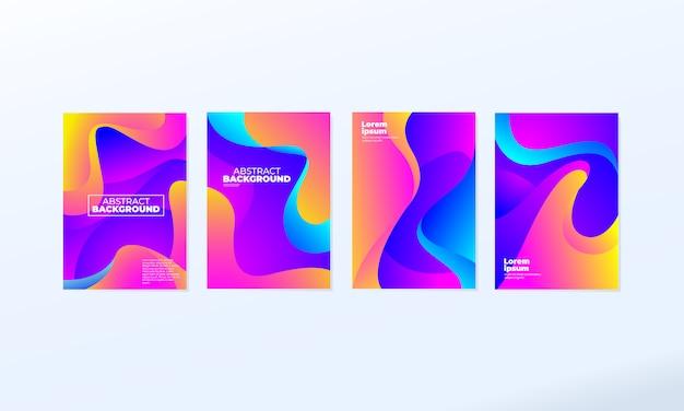 Ensemble de fond coloré abstrait moderne