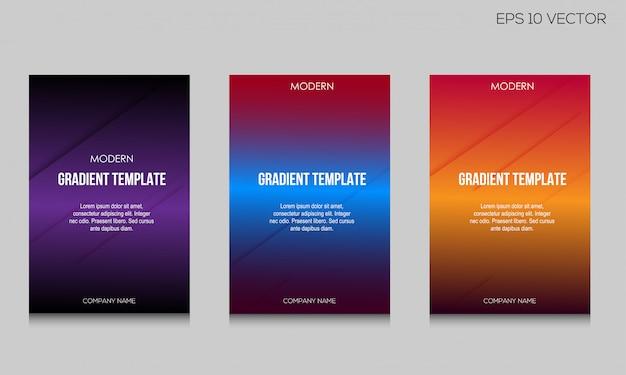 Ensemble de fond de couverture moderne format a4 deux format a4