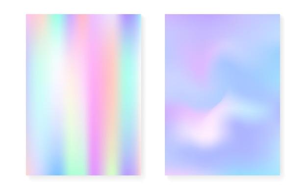 Ensemble de fond dégradé holographique