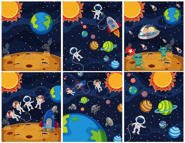 Ensemble de fond de l'espace