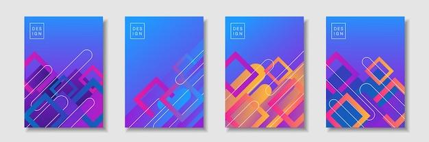 Ensemble de fond de forme géométrique abstraite avec un dégradé de couleur doux