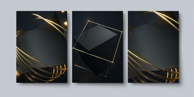 Ensemble de fond géométrique abstrait