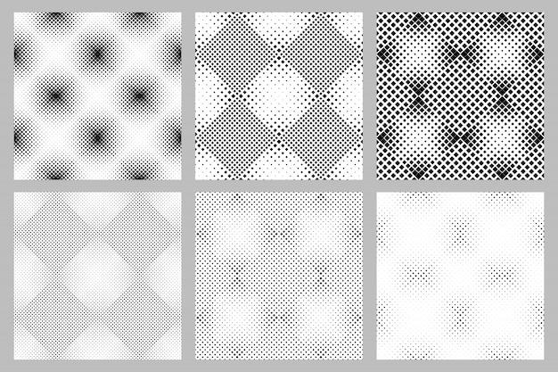 Ensemble de fond géométrique transparente motif carré