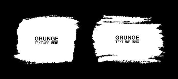 Ensemble de fond grunge dessinés à la main blanche coup de pinceau bannières de vente textures de détresse formes vierges