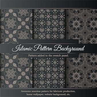 Ensemble de fond de modèle islamique. motif islamique de luxe