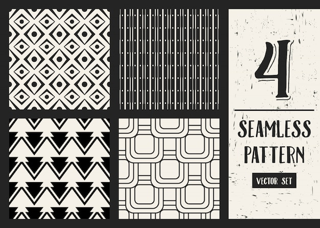 Ensemble de fond motif géométrique monochrome.