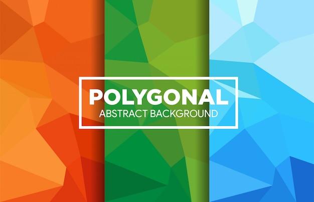 Ensemble de fond triangulaire low poly