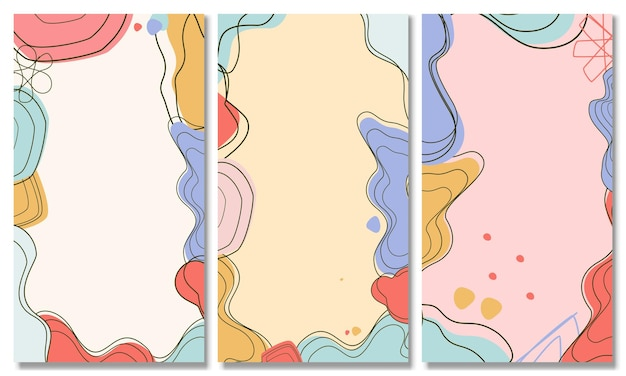 Ensemble de fonds abstraits fond pastel abstrait fond tendance moderne style memphis