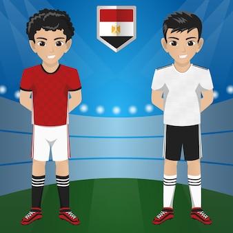 Ensemble de football / football supporter / fans de l'équipe nationale de l'egypte
