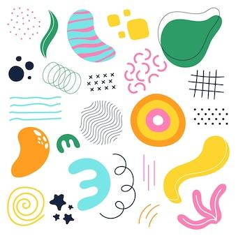 Ensemble de formes abstraites colorées
