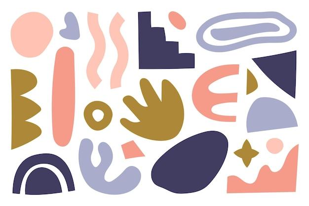 Ensemble de formes abstraites dessinées à la main
