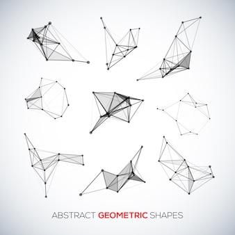 Ensemble de formes géométriques abstraites