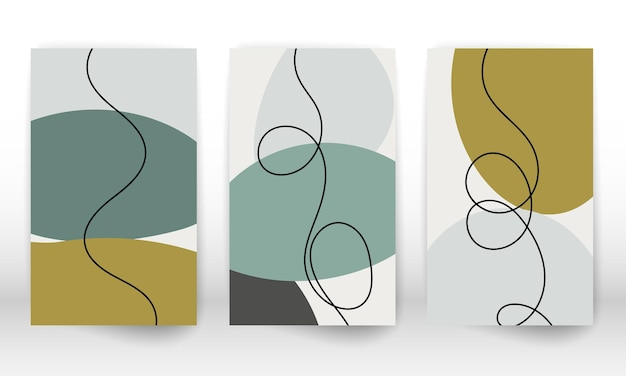 Ensemble de formes géométriques. éléments de conception d'effet aquarelle dessinés à la main abstraite. impression d'art moderne. design contemporain avec des formes de griffonnage.