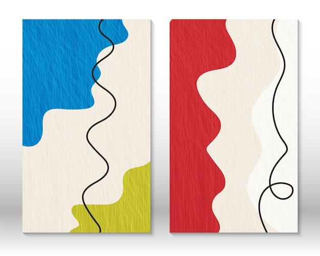 Ensemble de formes géométriques. peinture abstraite moderne de conception de griffonnage. formes abstraites dessinées à la main. conception d'effet aquarelle. impression d'art moderne. design contemporain avec des éléments de griffonnage.