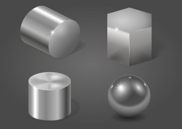 Ensemble de formes métalliques