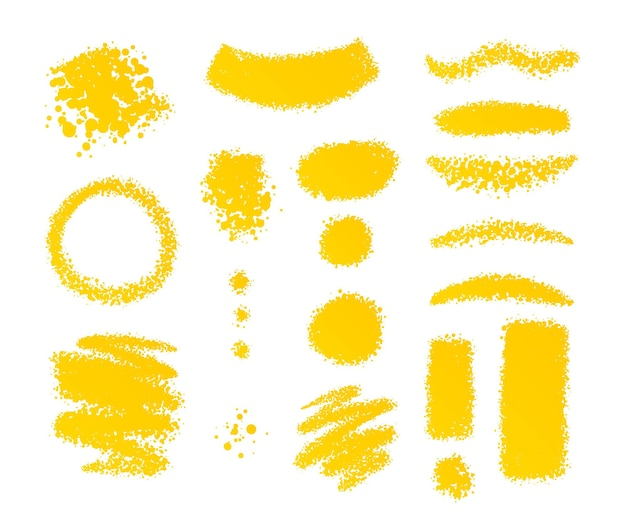 Ensemble de formes de pinceaux décoratifs