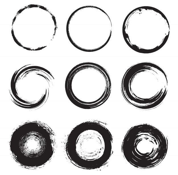 Ensemble de formes rondes grunge
