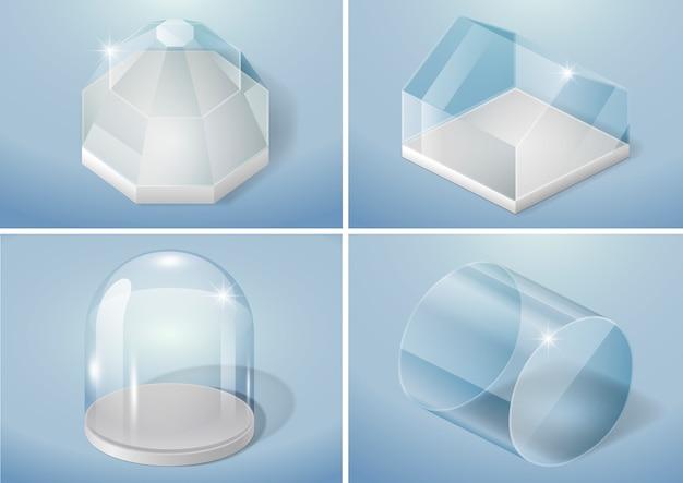 Ensemble de formes en verre