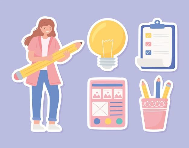 Ensemble de fournitures pour femme designer